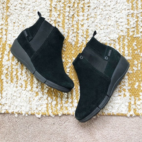 Crocs Shoes | Chelsea Wedge Ankle Boots